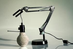 lampe béton studio